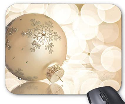 Amazon Com Mouse Mat Elegant Christmas Ball Ornaments Mouse Pad