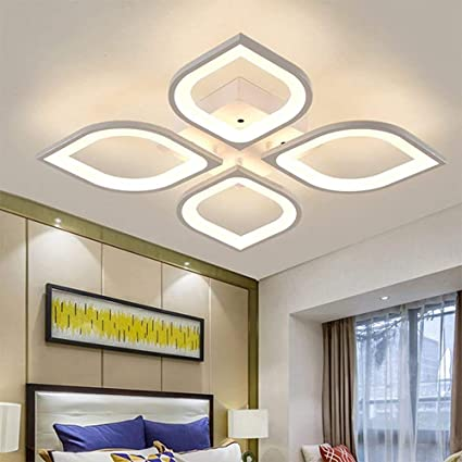 Modern Living Room Ceiling Lamp Dimmable Flower Shaped Ceiling Lighting And Interior Decoration Ideas White Amazon Co Uk Kitchen Home