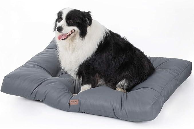 Bedsure Camas para Perros Pequeños Impermeable - Colchón Perro Lavable y Suave, M 76x50x10 cm, Gris: Amazon.es: Productos para mascotas