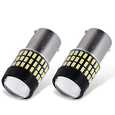 YITAMOTOR 2x 1156 P21W BA15S LED White Light Bulbs, 78-SMD Super Bright, 1141 1003 7506 LED Replacement Bulb for RV Reverse Backup Tail Light, 6500K White, 12v-24v: Automotive [5Bkhe1503073]