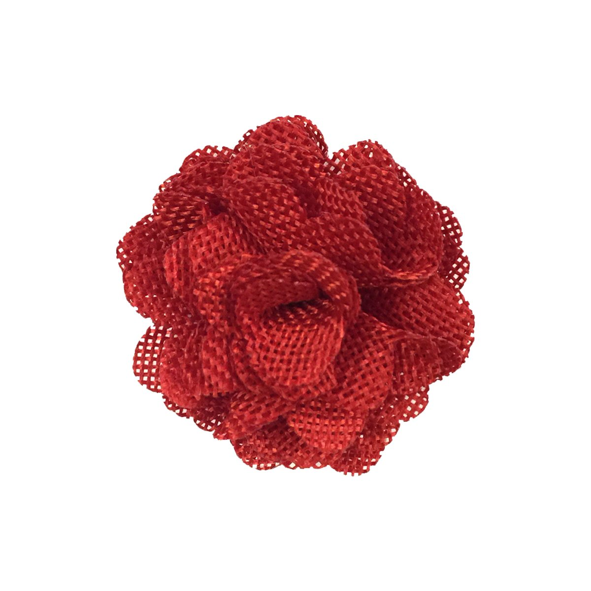 Wrapables Shabby Chic Burlap Rose Flower (Set of 20), Red