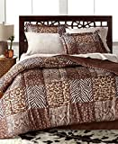 Leopard, Zebra, Safari, Wild Cats, Animal Print, California CAL King Comforter Set (8 Piece Bed In A Bag) + HOMEMADE WAX MELT
