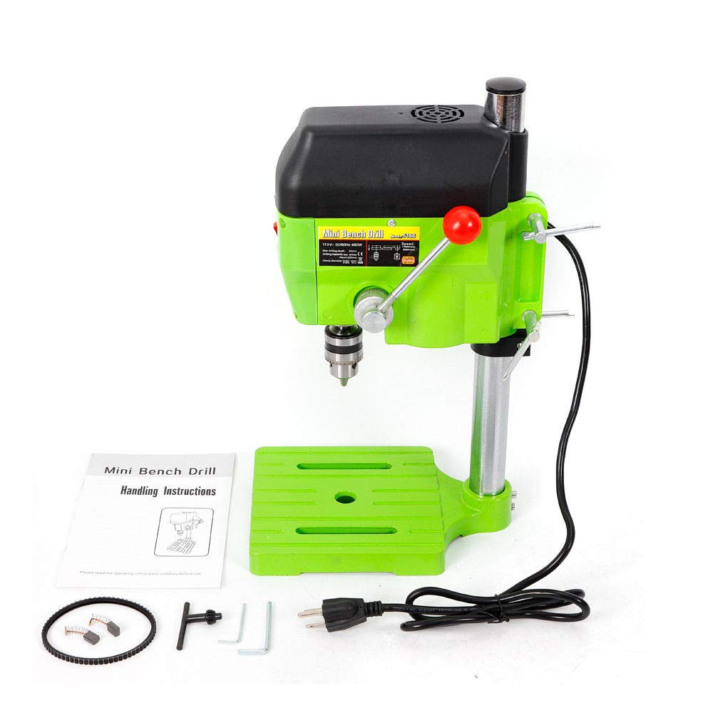 Mini Electric Bench Drill Press Stand Compact Portable Workbench Metal Drilling Repair Tool Expanding Drilling Machine 480W DIY Tool (USA Stock) by SHZICMY (Image #8)