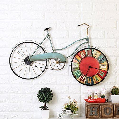 Relojes de pared de estilo europeo vintage retro relojes ¿vieja bicicleta decorativos relojes de pared: Amazon.es: Hogar