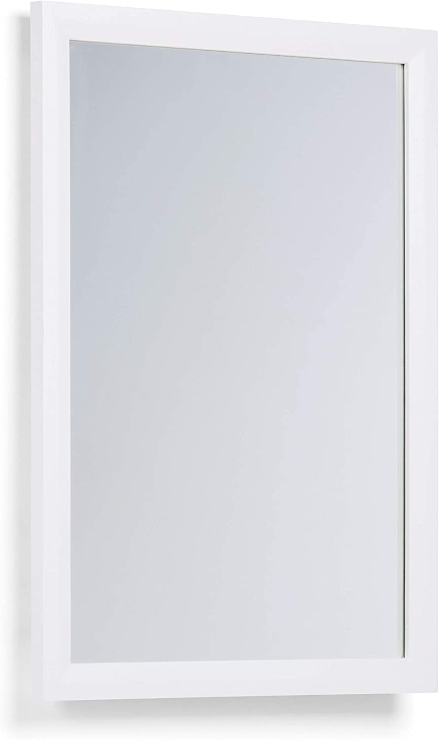 SIMPLIHOME Urban Loft 22 inch x 30 inch Bath Vanity Décor Mirror in Pure White