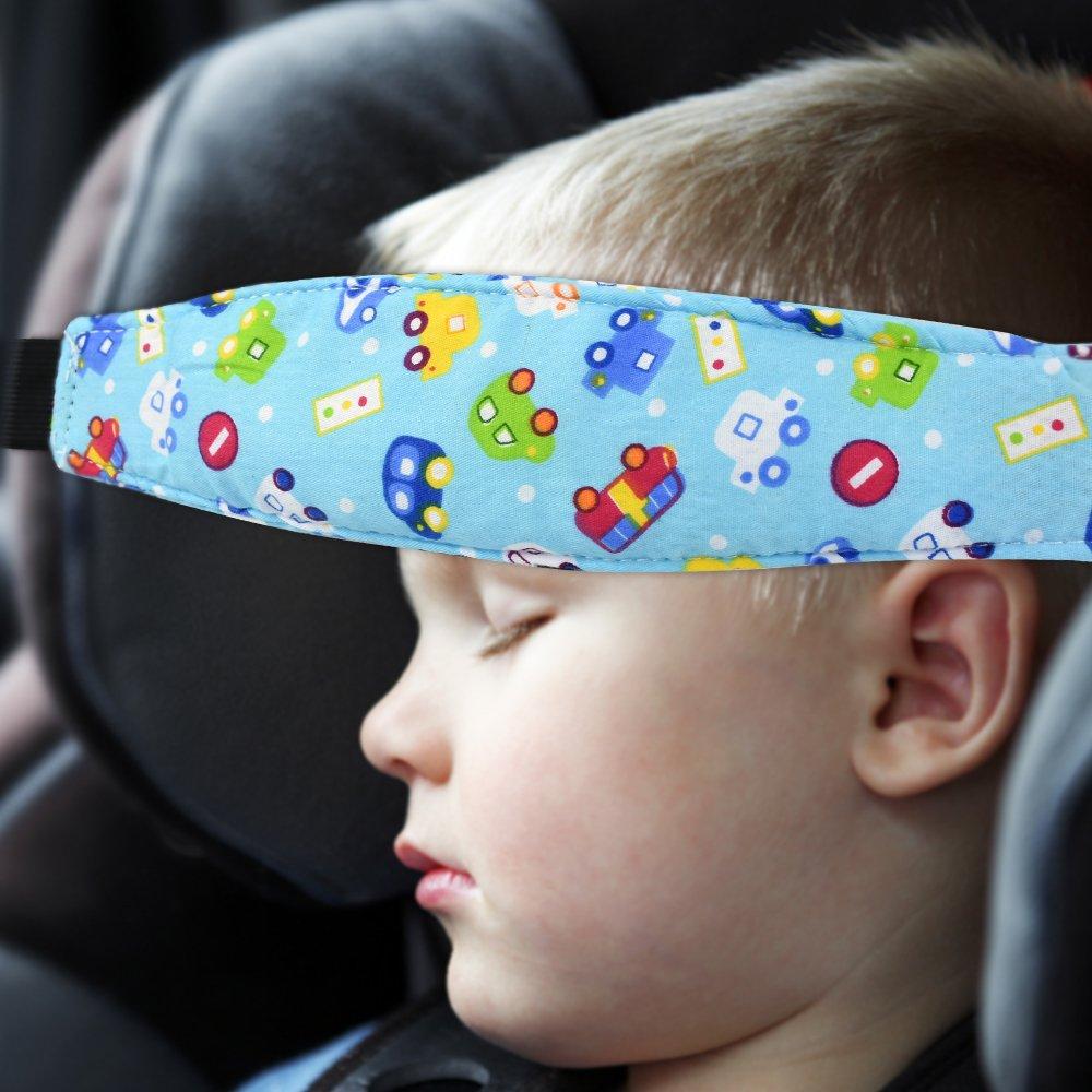 Surplex 1 Pcs Bambini del Bambino Cinghia auto Sicurezza Cinturino Supporto Testa Bambini 1beige Dormire Cintura di Sicurezza Testa Protezioni Comfort