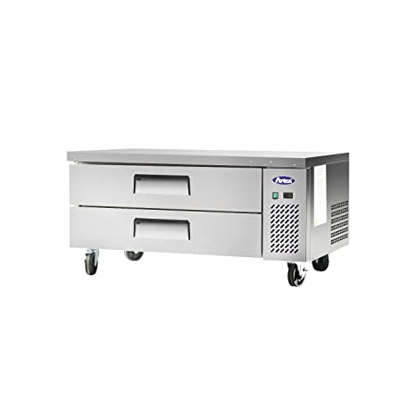 commercial undercounter refrigeratoratosa small 48 stainless steel extended top chef base cooler center - Commercial Undercounter Refrigerator