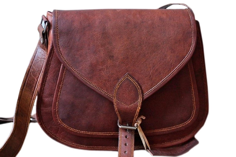 """SUPER SALE"" 14"" Phoenix Craft Women's Leather Purse Gypsy Bag Crossbody Women Handbag Shoulder Travel Satchel Tote Bag 14x10x4 Inches BrowN"