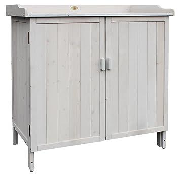 HABAU Lino 3095 Armoire de jardin avec plan de travail Gris 98 x 48 ...