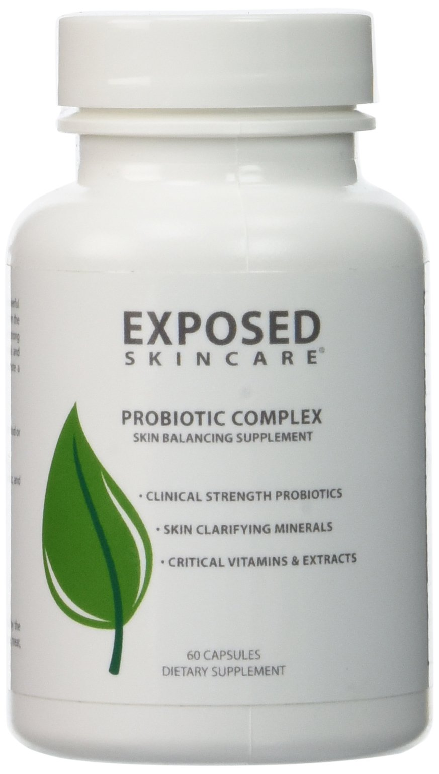 Probiotics, Fight Acne from the Inside, Probiotic Complex Pills, Keep Your Immune System Healthy by Exposed Skin Care 60 count