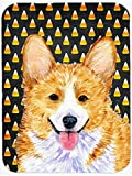 Caroline's Treasures SS4279LCB Corgi Candy Corn Halloween Portrait Glass Cutting Board, Large, Multicolor