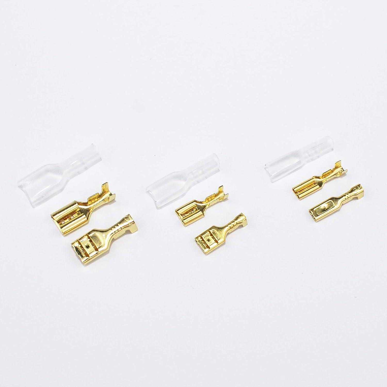 connecteurs femelles ADSSM 150 pi/èces connecteur de fil /électrique connecteurs de c/âble femelle connecteurs de c/âble isol/és avec couvercle de protection cosses de c/âbles 2,8 mm 4,8 mm 6,3 mm