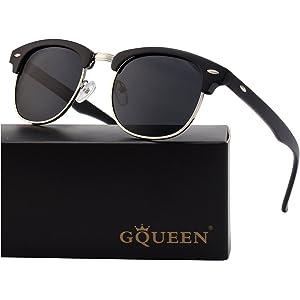Classic Horn Rimmed Womens Sunglasses E8926 Joopin Polarized Half Frame Sunglasses for Men