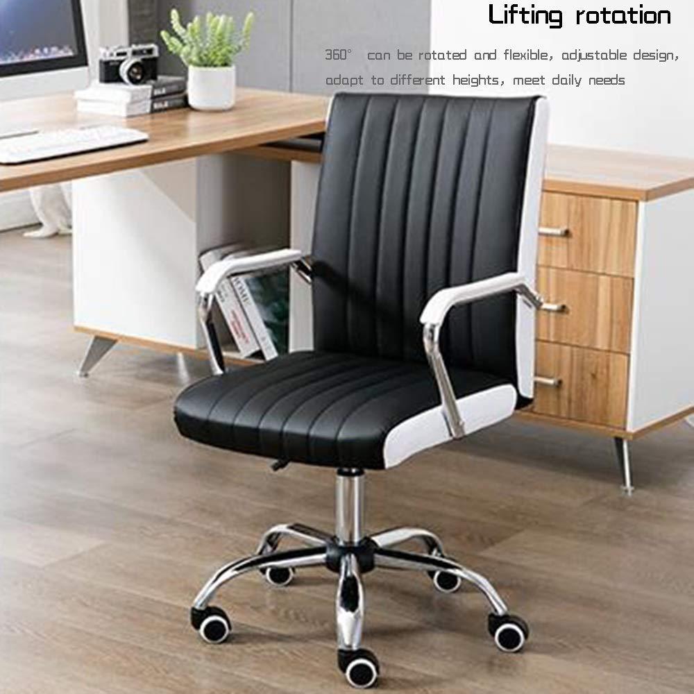 JIEER-C stol hög rygg stor storlek tyg spelstol justerbar höjd verkställande och ergonomisk svängbar stol för arbetsrum sovrum bärande kapacitet: 150 kg, beige BEIgE