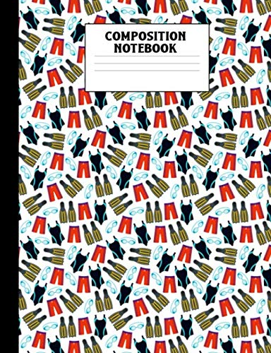 (Composition Notebook: Swimming Swimsuit Pattern College Ruled Lined Comp Book )