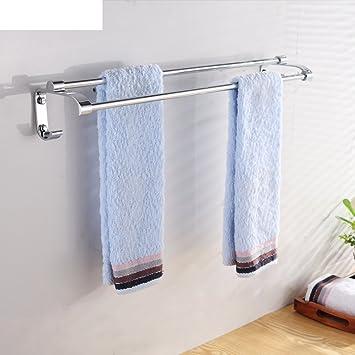 Baño acero inoxidable toallero/ doble/Toallas/ la barra de colgar de baño-A: Amazon.es: Bricolaje y herramientas