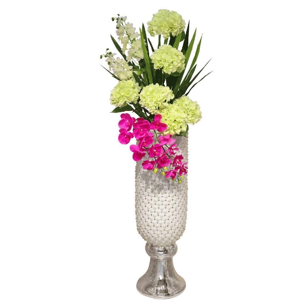 QIQIDEDIAN クリエイティブ大床花瓶家の装飾リビングルームテレビキャビネット装飾ホテルKTVレストラン (Color : Ceramic-White, Size : 93cm*28cm*30cm) B07M6FT3ML Ceramic-White 93cm*28cm*30cm