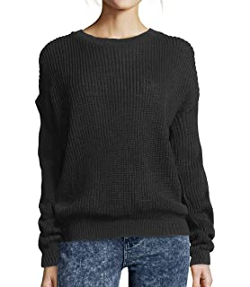 Made by Blush Avenue Womens Ladies Oversized Baggy Long Thick Knitted Plain  Chunky Top Knit Jumper 8bc73d03d