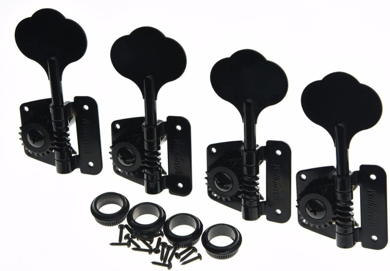 Wilkinson Black Left Handed Vintage Bass Tuners Left Handed Tuning Keys for Jazz J Bass Precision P Bass