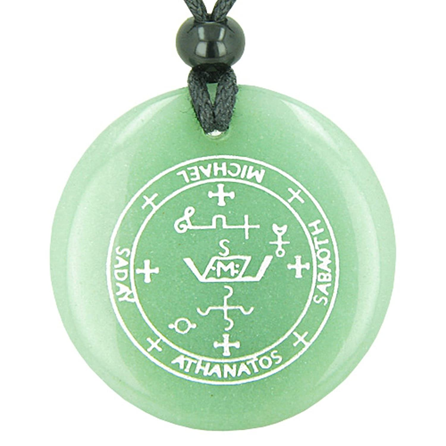 Amazon sigil of the archangel michael magical amulet green amazon sigil of the archangel michael magical amulet green quartz pendant necklace jewelry biocorpaavc Images