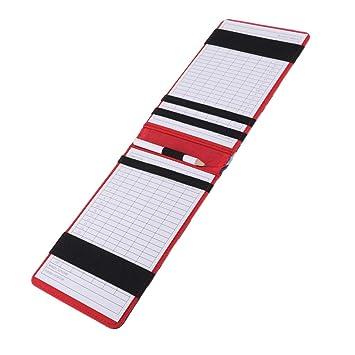 IPOTCH Porta Tarjetas de Puntuación de Golf Multifunción y ...