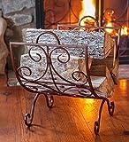 Crest Scrollwork Fireplace Log Holder - Copper