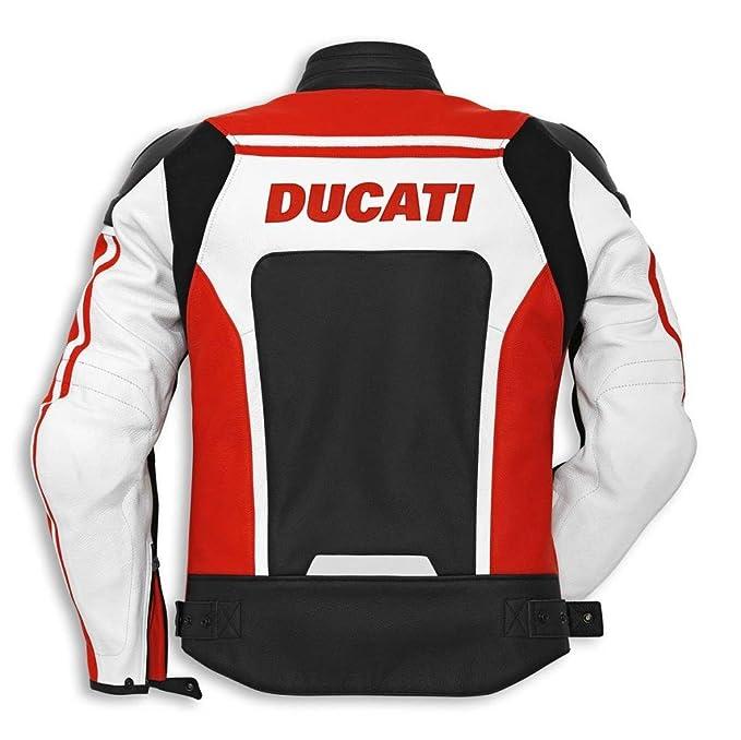 Amazon.com: Ducati Corse 14 chaqueta de piel perforado rojo ...