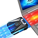 ⭐️KLIM Cool Universal Gaming Laptop PC Cooler - High Performance Fan for Fast Cooling Action - USB Hot Air Extractor - Blue - [ New 2019 Version ]
