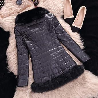 CUCUHAM Womens Coat Casual Winter Warm Zipper Leather Jacket Parka Outwear Overcoat at Amazon Womens Coats Shop