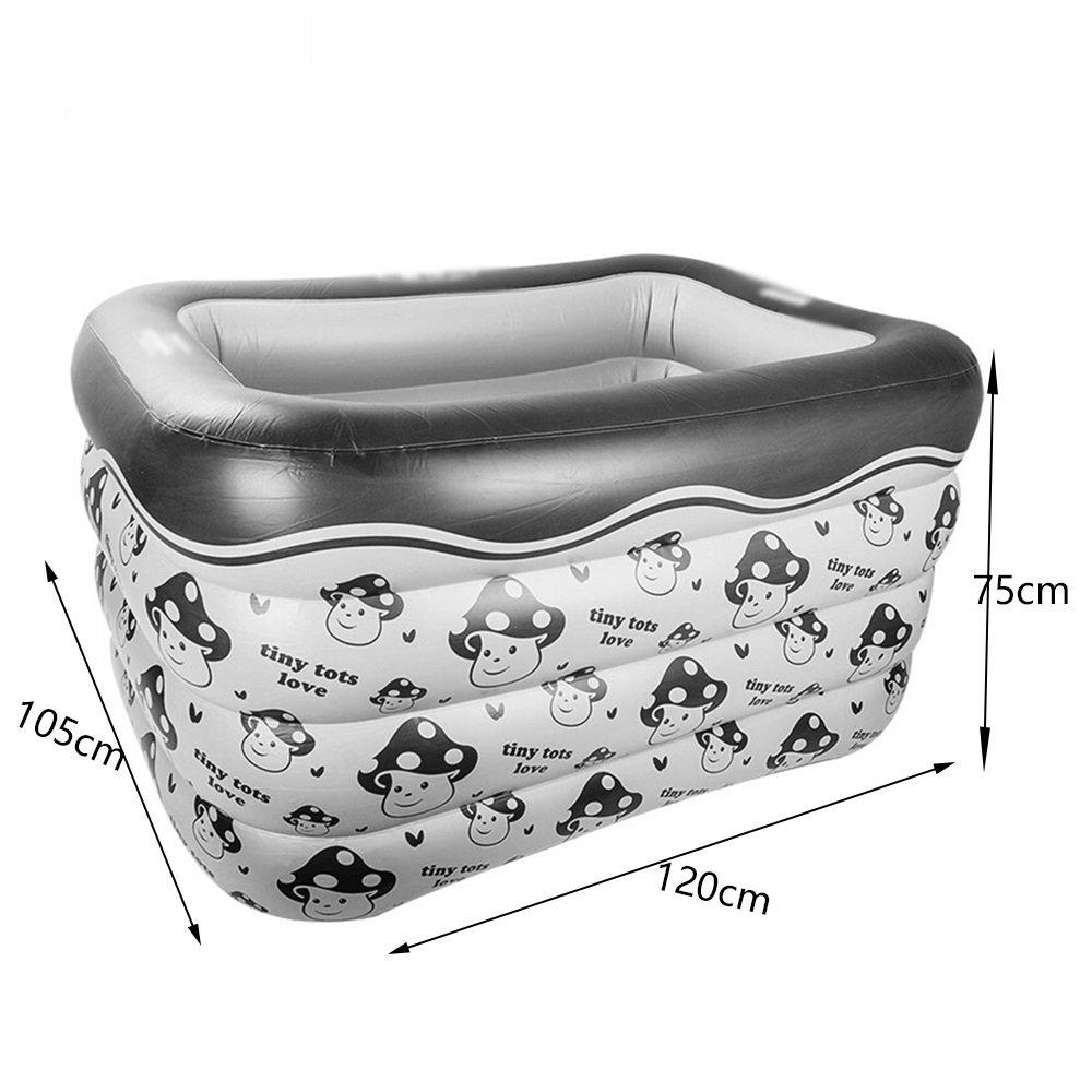Hw bathtub Baby Inflatable Rectangular Print Swimming Pool Material: PVC Size: Small: 10512075cm; Large: 10514075cm Bathtub (Color : B) by Hw bathtub (Image #2)