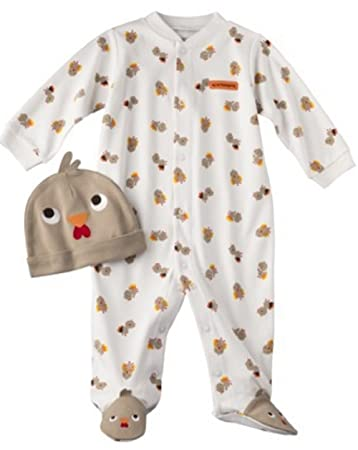Carter s Turkey Thanksgiving 2 Piece Sleep   Play and Hat Set Baby (6 ... 015e9f07197