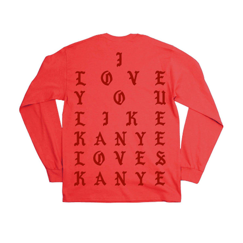 Yeezus I love you like Gov. Ball long sleeve - Yeezy - I Feel Like Pablo (Small, Melon)