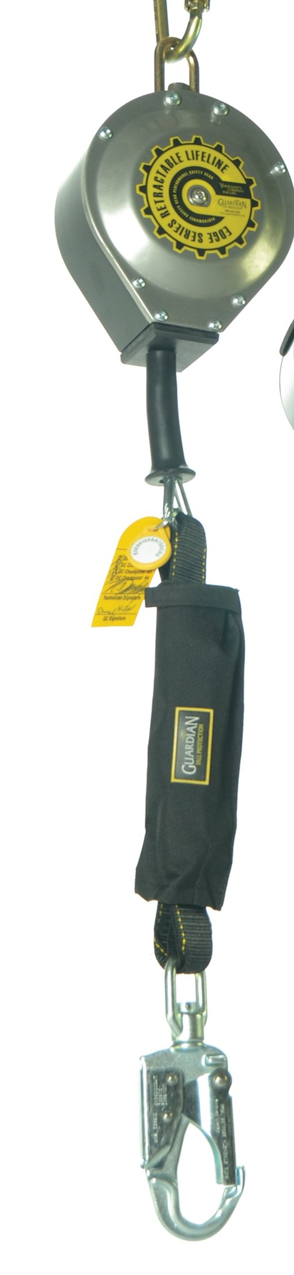 Guardian Fall Protection 10928 65-Foot Heavy Duty SRL with Heavy Duty Shock Pack and Removable Protective Cover