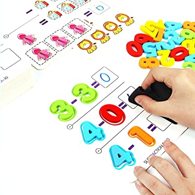 FunPa Math Learning Toy Addition Subtraction Educational Math Toy Math Counting Game for Kids: Toys & Games