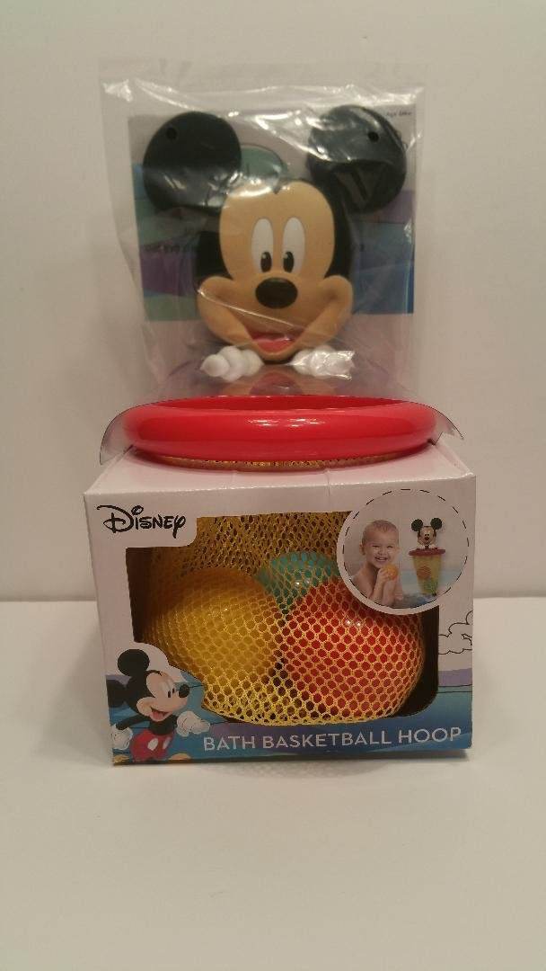Amazon.com: Disney Mickey Mouse Bath Basketball Hoop: Toys & Games