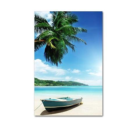 SCLPOSTER Playa de Verano Árbol de Coco Fotografía Cartel de ...