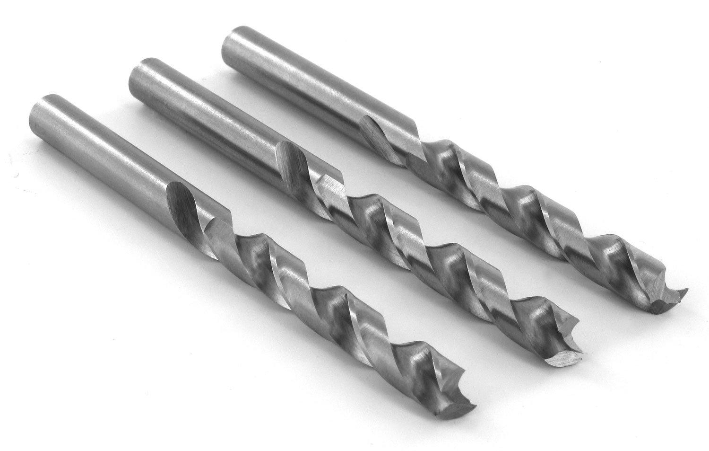 ENT DURADRILL Holzbohrer im 3er Pack /Ø 5,5 mm HSS-G mit Zentrierspitze und Vorschneider D5,5 x NL52 x GL91 mm geschliffene Premium Holzspiralbohrer