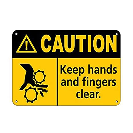 Fluse Caution Keep Hands and Fingers Clear. Caution Vintage ...