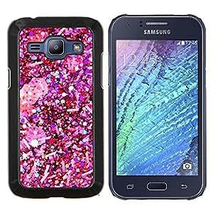 Dragon Case - FOR Samsung Galaxy J1 J100 J100H - winter snow snowflake white christmas - Caja protectora de pl??stico duro de la cubierta Dise?¡Ào Slim Fit