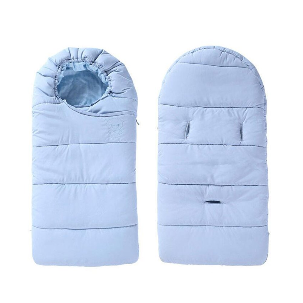Baby Winter Sleepsack Stroller Sleeping Bag Blanket Sheets Swaddling Double Zipper (Pink, M) Zulaniu