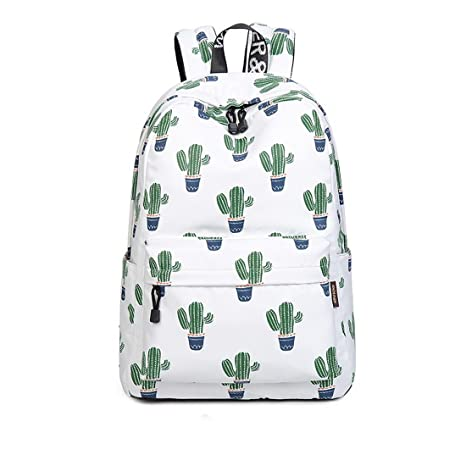 66ce25ed08ba Image Unavailable. Image not available for. Color  Joymoze Waterproof Cute  School Backpack for Boys and Girls Lightweight Chic Prints Bookbag Cactus