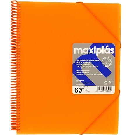 Amazon.com : grafoplás 39836052-carpeta Orange 60 Pockets A4 ...