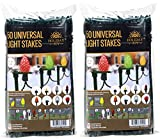 Holiday Joy 100 Universal Light Stakes for Holiday String Lights on Yards, Driveways & Pathways - 8.5'' Tall - New and Improved Model