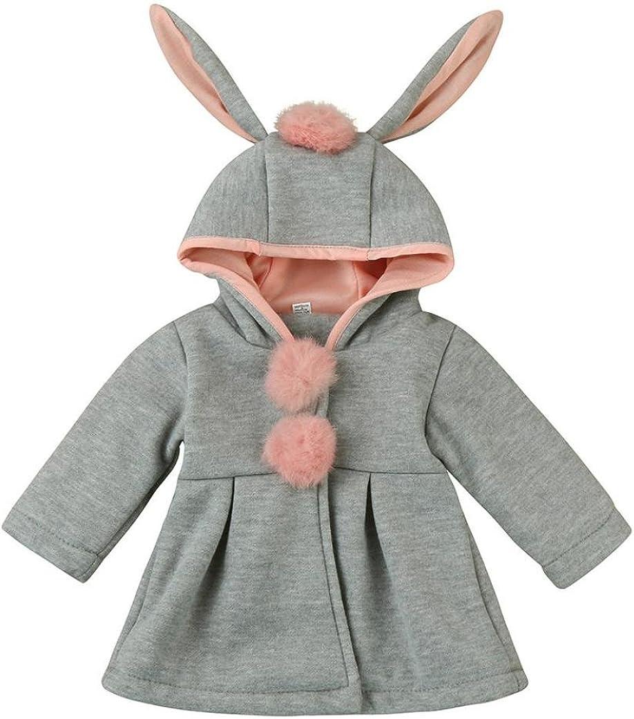 18-24M, Gray Sagton Baby Infant Girls Winter Warm Coat Jacket Chuzzle Thick Cold Resistant Clothes