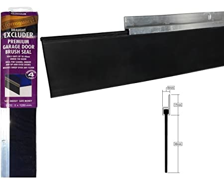 8foot 25m Aluminium And Brush Draught Excluder Seal For The