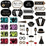 Big Dot of Happiness New Year's Eve - 2019 New Years Eve Party Supplies & Photo Booth Props Kit - 34 Piece
