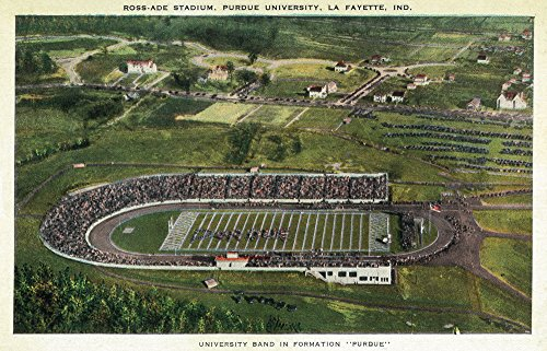 La Fayette, Indiana - Purdue University; Aerial of Ross-Ade Stadium (12x18 Fine Art Print, Home Wall Decor Artwork Poster) (Ade Ross Stadium)