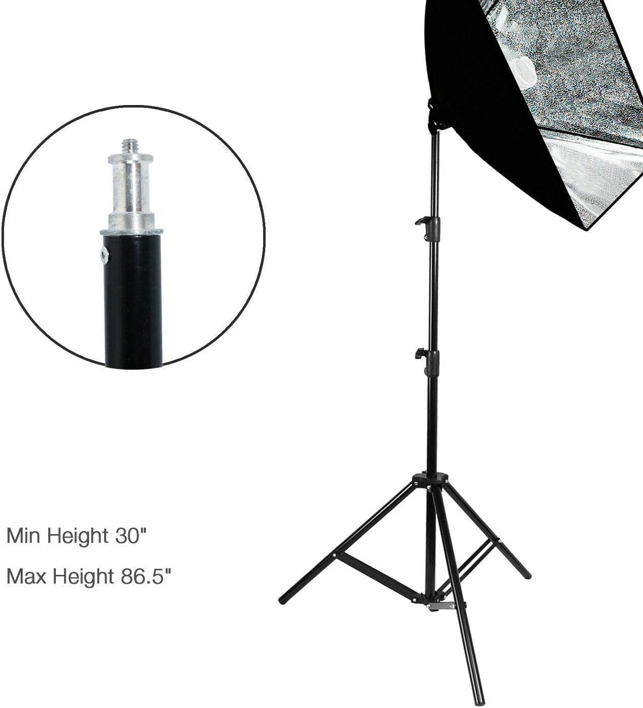 oldzon xz-12 Studio Light Photo Lighting Kit w//Stands Carry Bag Soft Box Boom Stand with Ebook