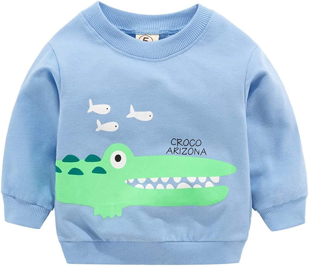 squarex   /® Toddler Kid Baby Girl Boy Clothes Long Sleeve Cartoon Printed T-Shirt Tops