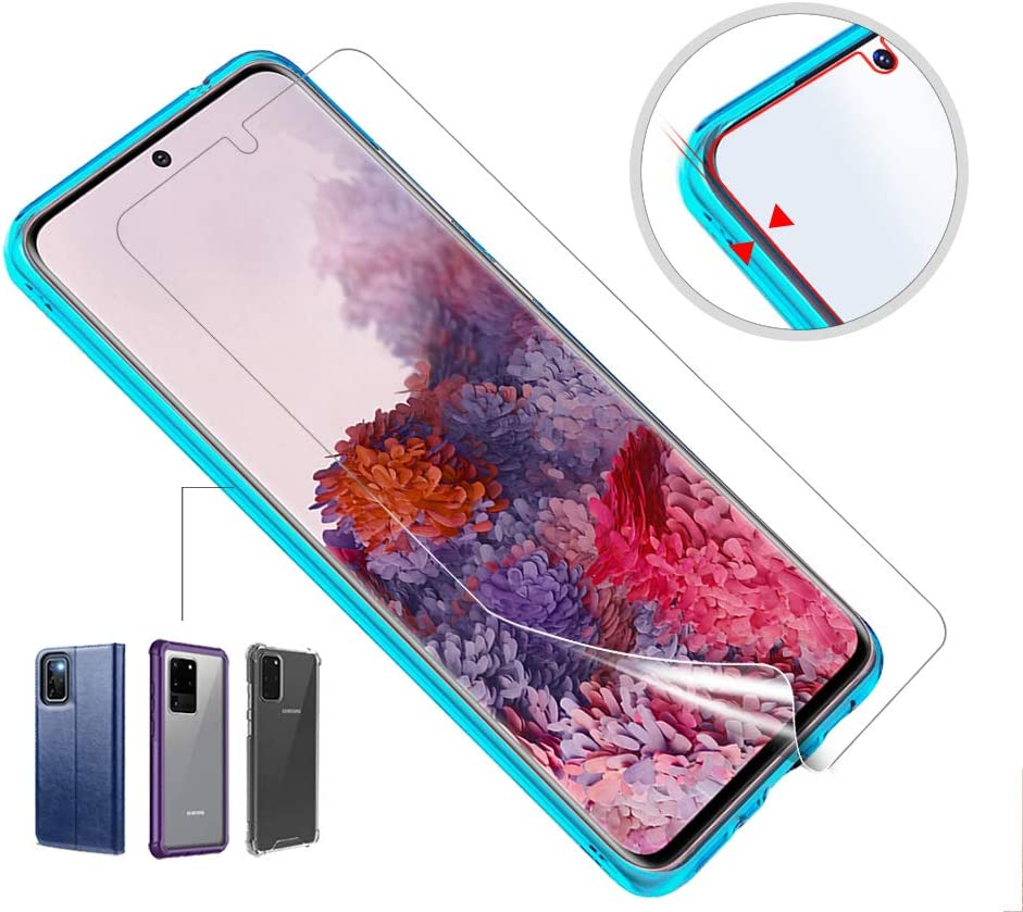 Dry TPU for Samsung Galaxy S20 Support Fingerprint Sensor NOT GLASS AloMit 3-Pack Screen Protector for Galaxy S20 and S20 5G 6.2 Case Friendly Bubble-Free
